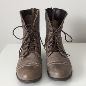 Steven Madden Grey Combat Boots